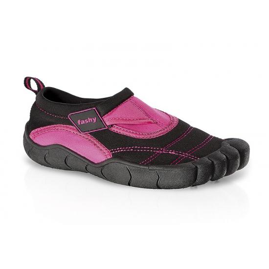 Zwart/roze kids waterschoenen watersport