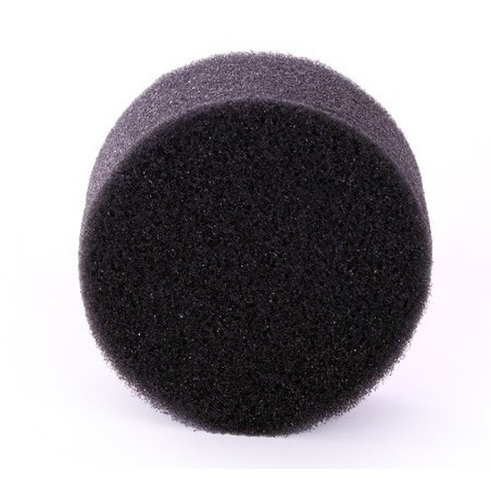 Zwart schmink-make up sponsje rond