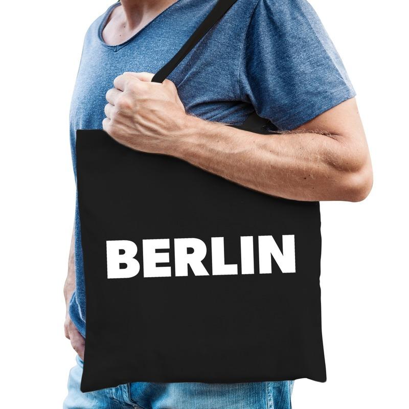 Zwarte katoenen Berlijn tas