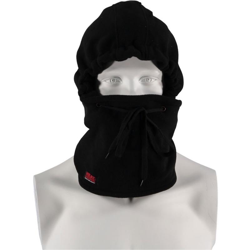 Zwarte thermo heren bivakmuts fleece