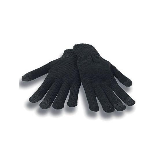 Zwarte winter handschoenen voor je mobiel