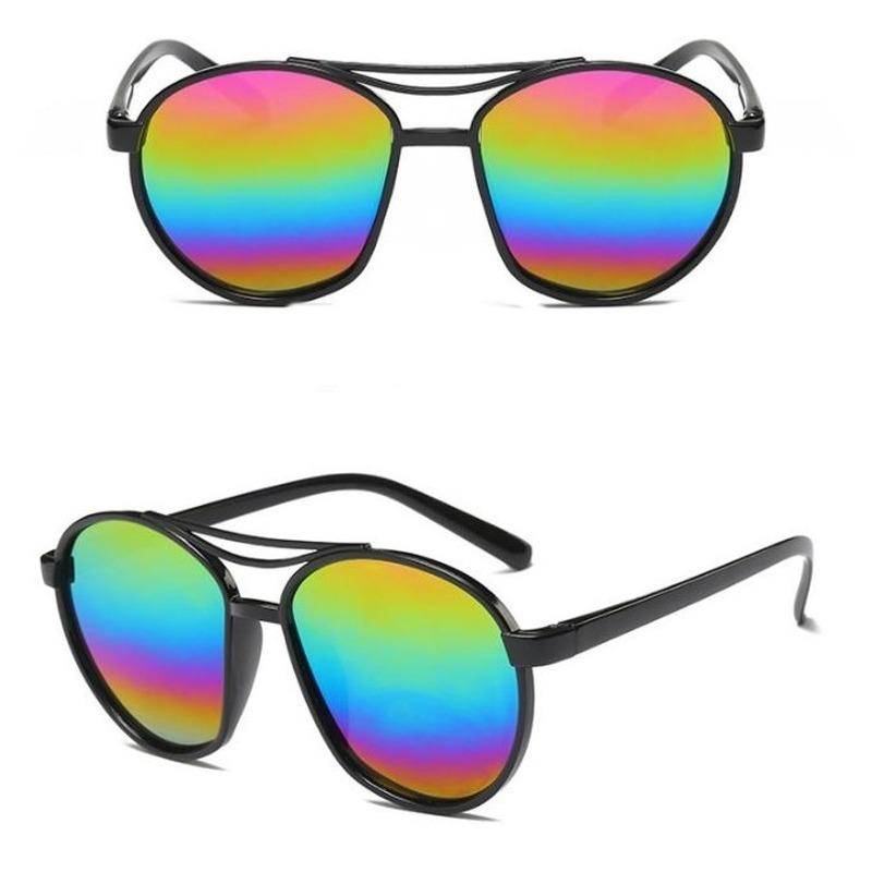 Zwarte zonnebril met spiegelglazen voor dames/heren