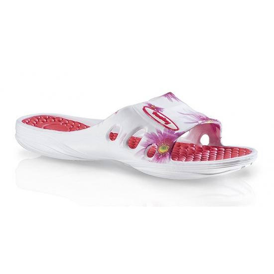 Zwembad slippers met roze bloemen