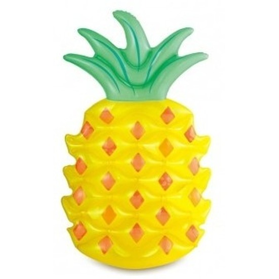 Zwembad/strand luchtbed ananas 123 cm